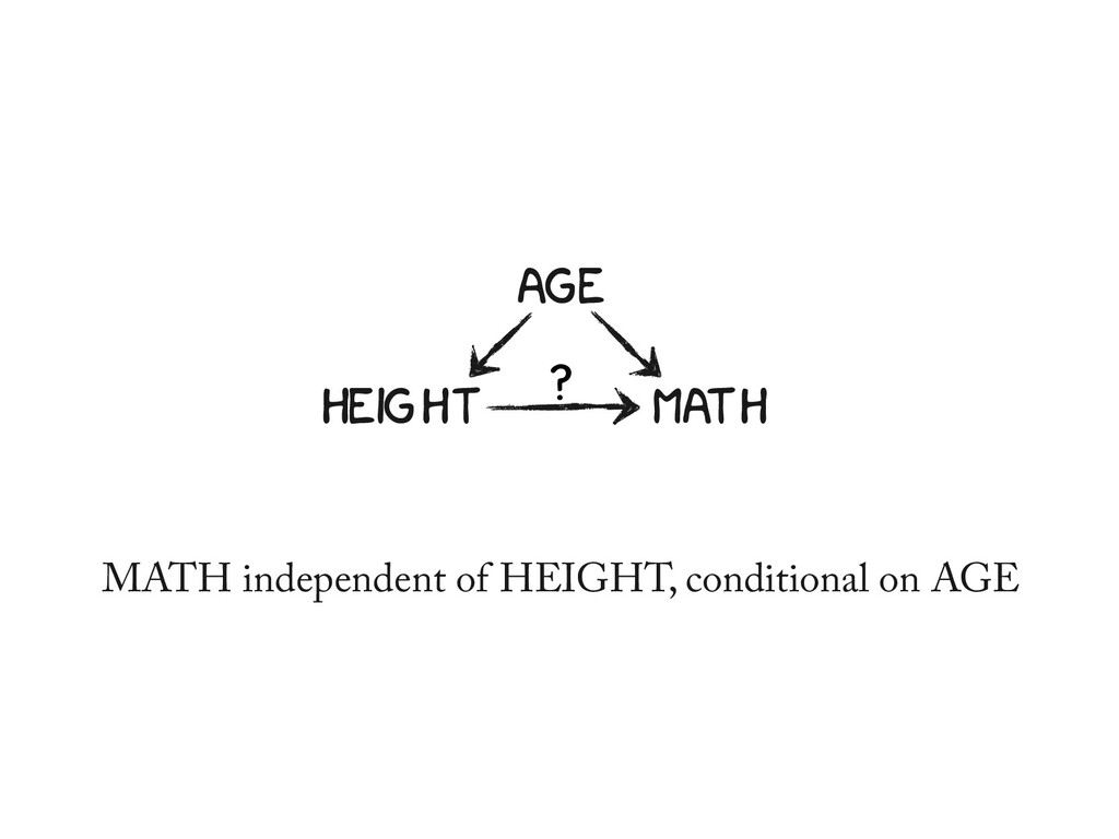 AGE HEIGHT MATH ? MATH independent of HEIGHT, c...