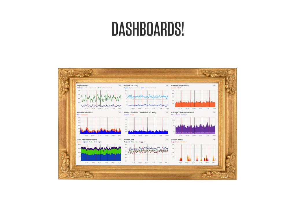 DASHBOARDS!