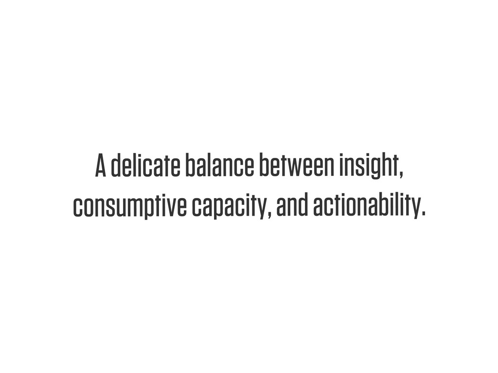 Text A delicate balance between insight, consum...
