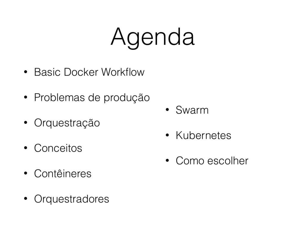 Agenda • Basic Docker Workflow • Problemas de pr...