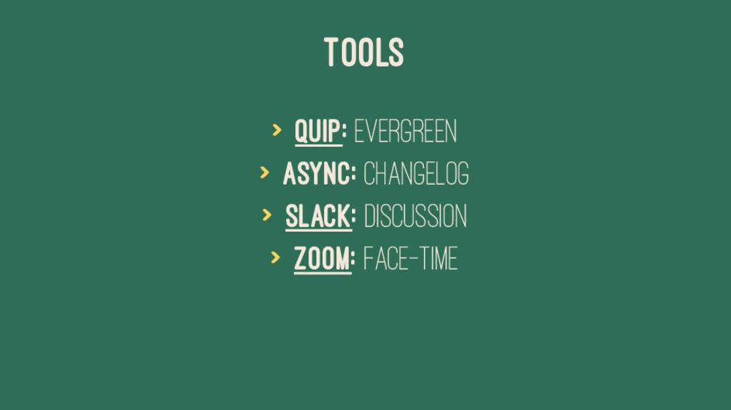 TOOLS > Quip: Evergreen > Async: Changelog > Sl...