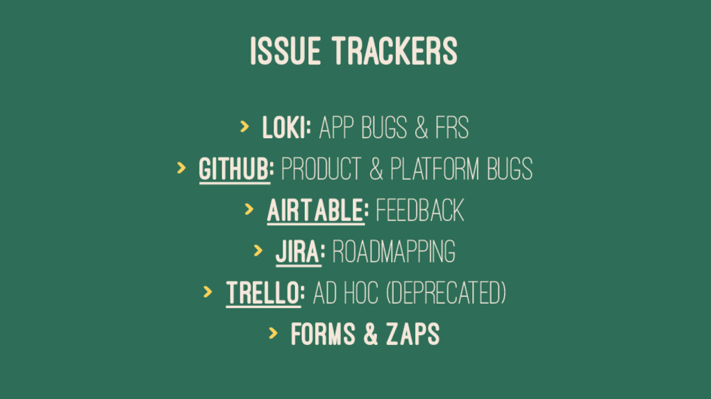 ISSUE TRACKERS > Loki: App Bugs & FRs > Github:...
