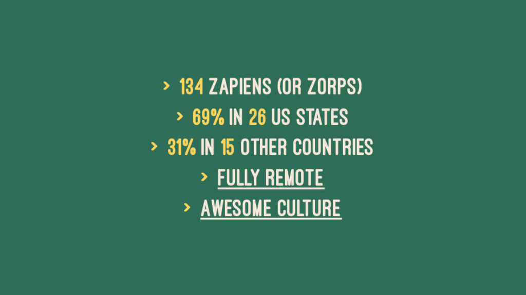 > 134 Zapiens (or Zorps) > 69% in 26 US States ...