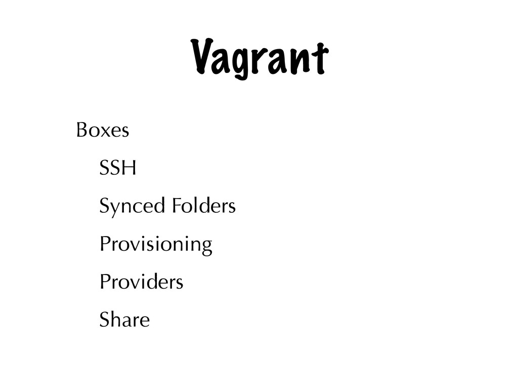 Vagrant Boxes SSH Synced Folders Provisioning P...