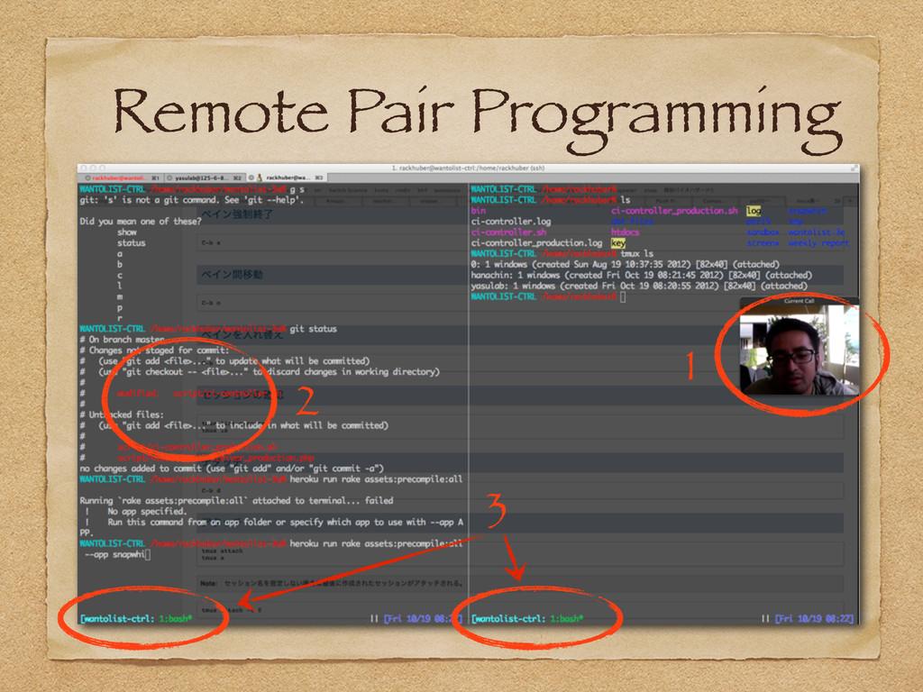 Remote Pair Programming 1 2 3