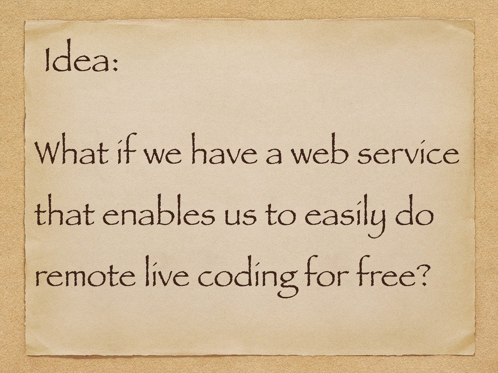 What if we have a web service that enables us t...