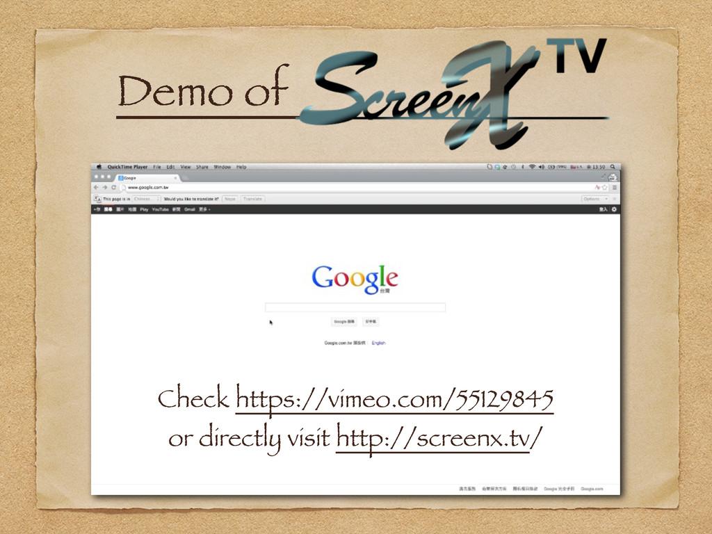 Demo ofɹ Check https://vimeo.com/55129845 or di...