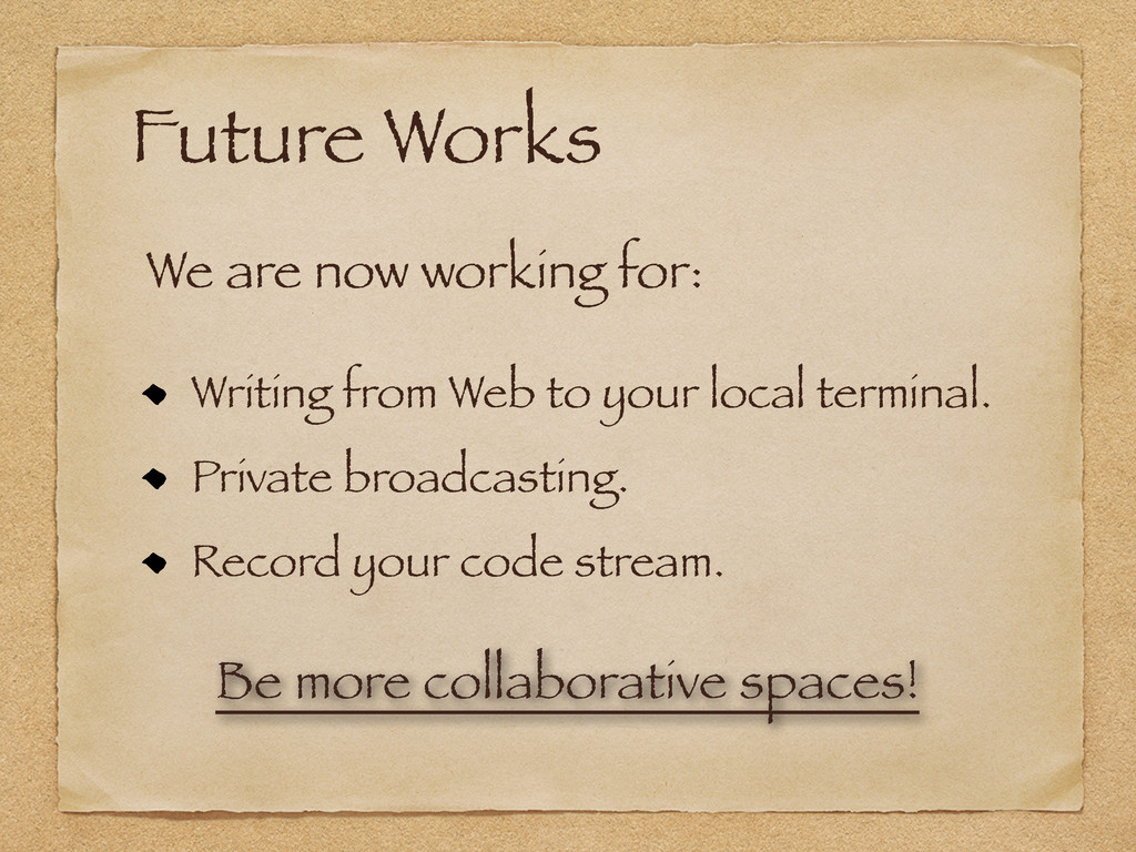 Future Works Writing from Web to your local ter...