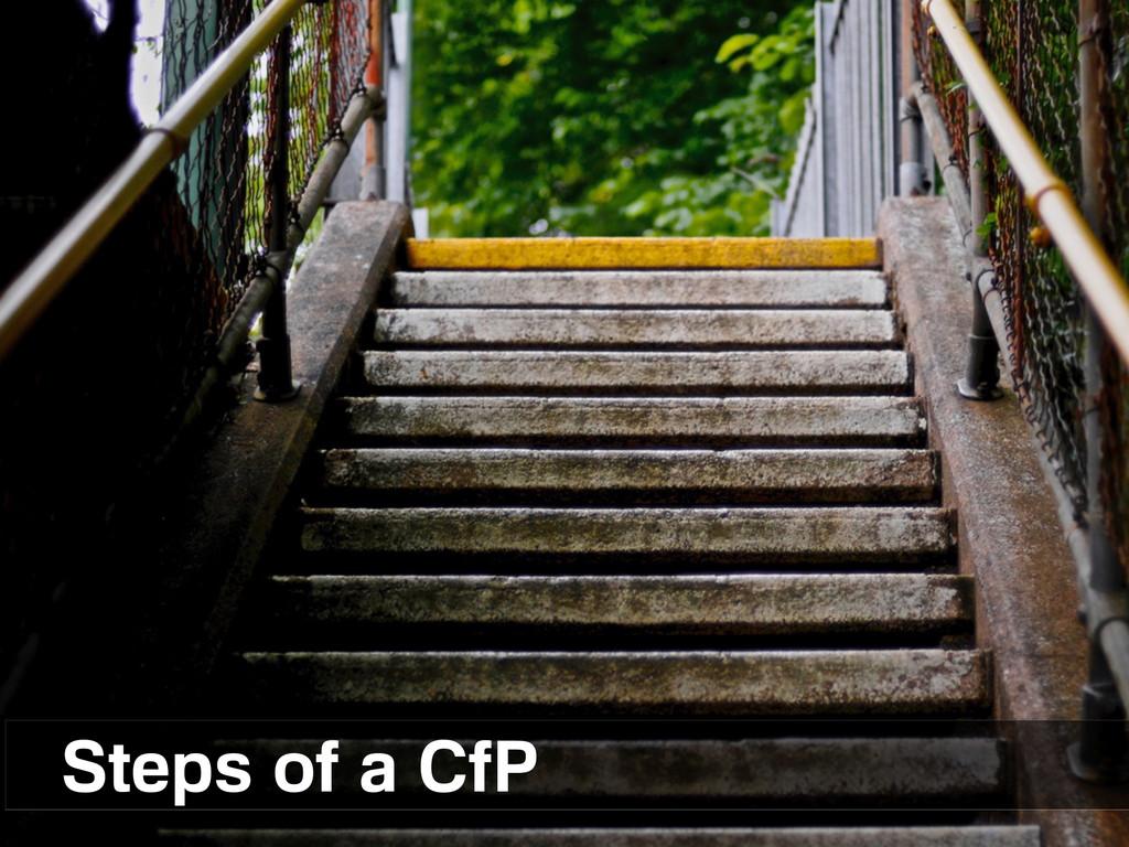 Steps of a CfP