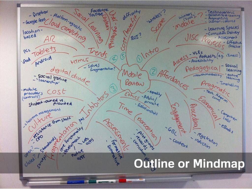 Outline Outline or Mindmap