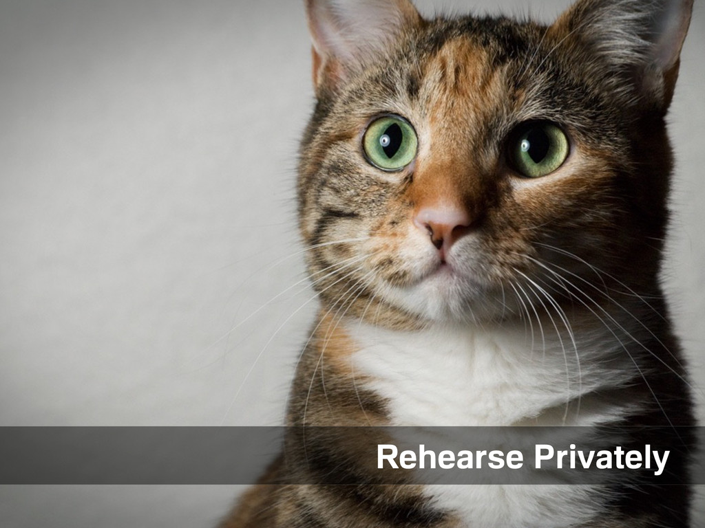 Private rehearsal Rehearse Privately
