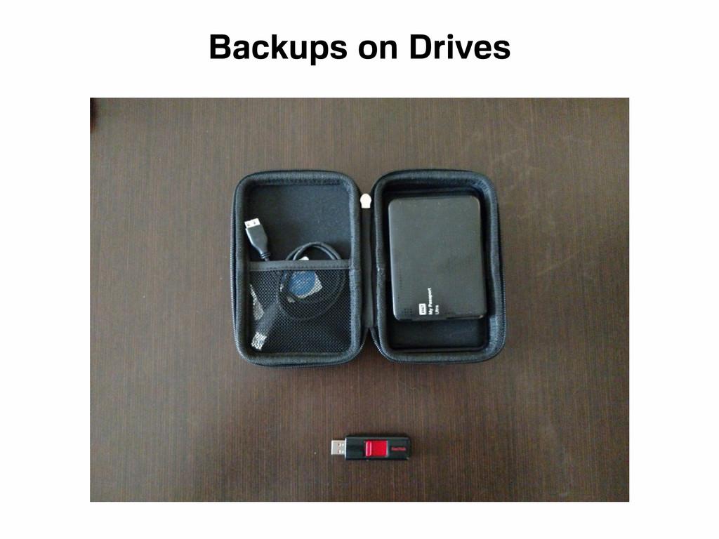 Backups on Drives