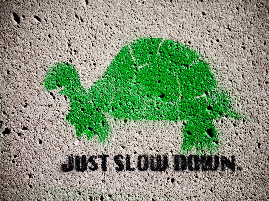 Slow down. Pause.