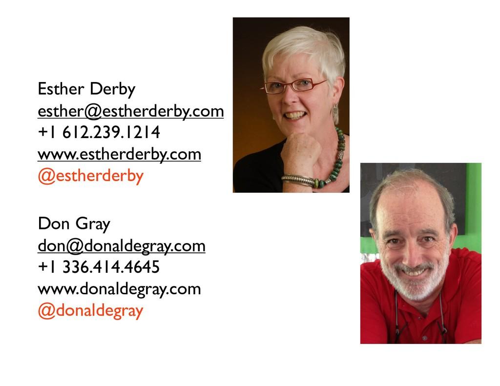 Esther Derby esther@estherderby.com +1 612.239....