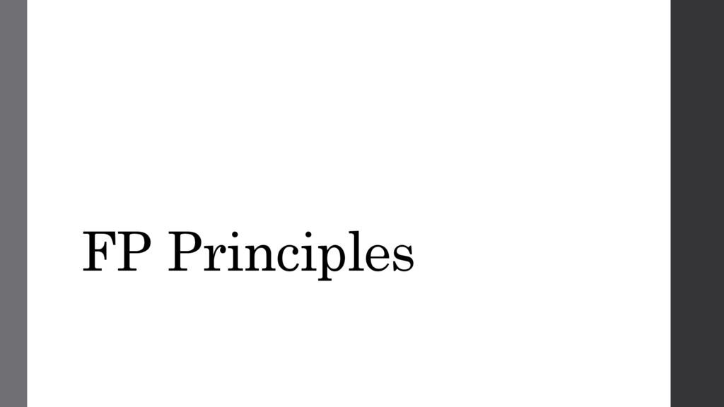 FP Principles
