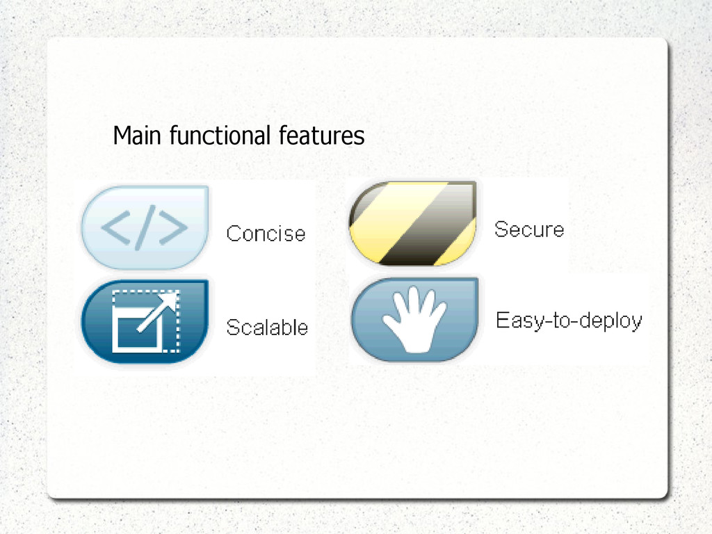 Main functional features