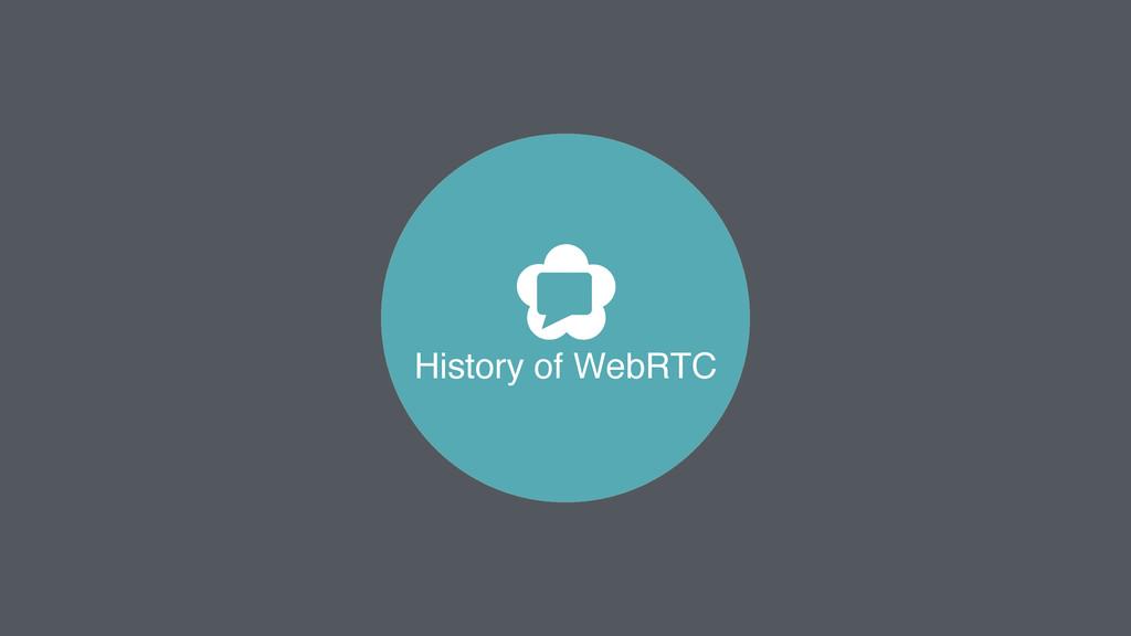 History of WebRTC