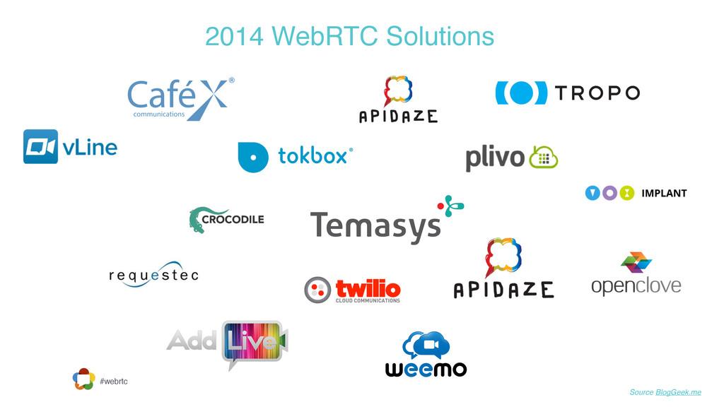 #webrtc 2014 WebRTC Solutions Source BlogGeek.me