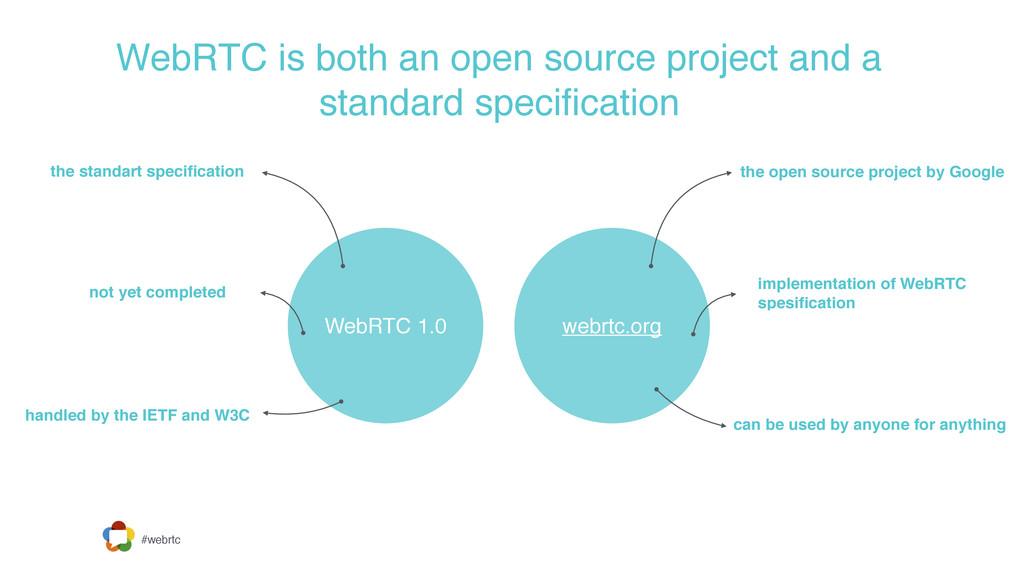 #webrtc WebRTC is both an open source project a...