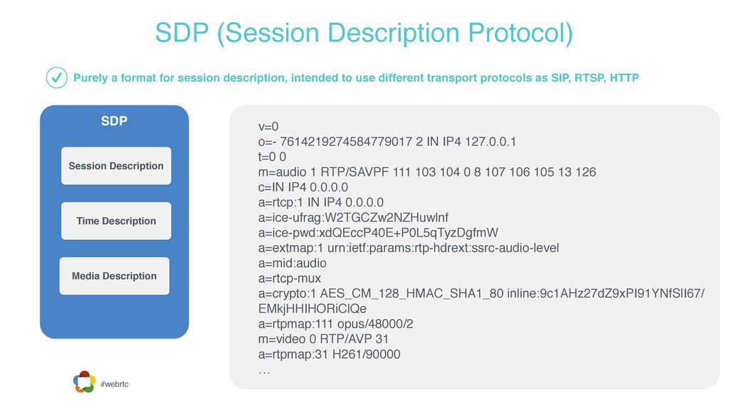 #webrtc SDP (Session Description Protocol) SDP ...