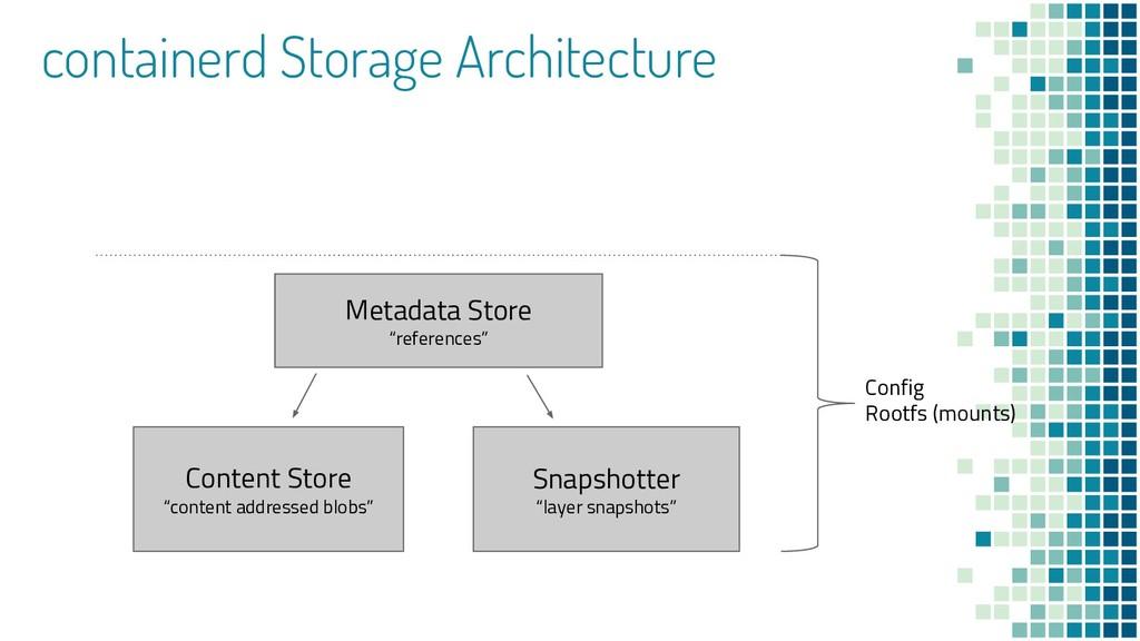 "containerd Storage Architecture Snapshotter ""la..."