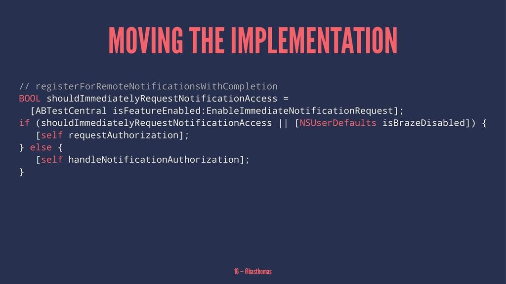 MOVING THE IMPLEMENTATION // registerForRemoteN...