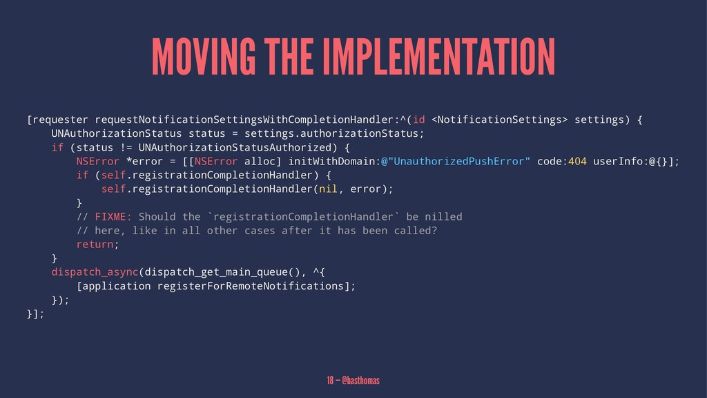 MOVING THE IMPLEMENTATION [requester requestNot...
