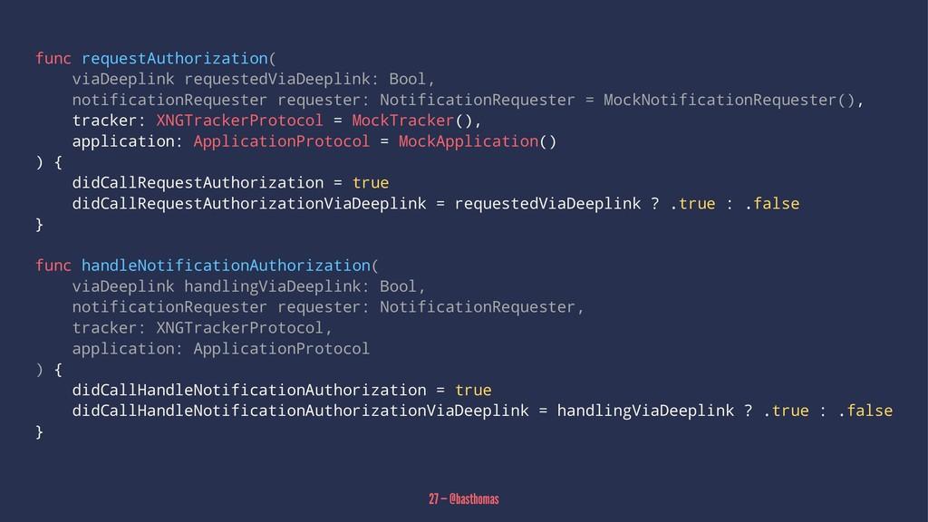 func requestAuthorization( viaDeeplink requeste...