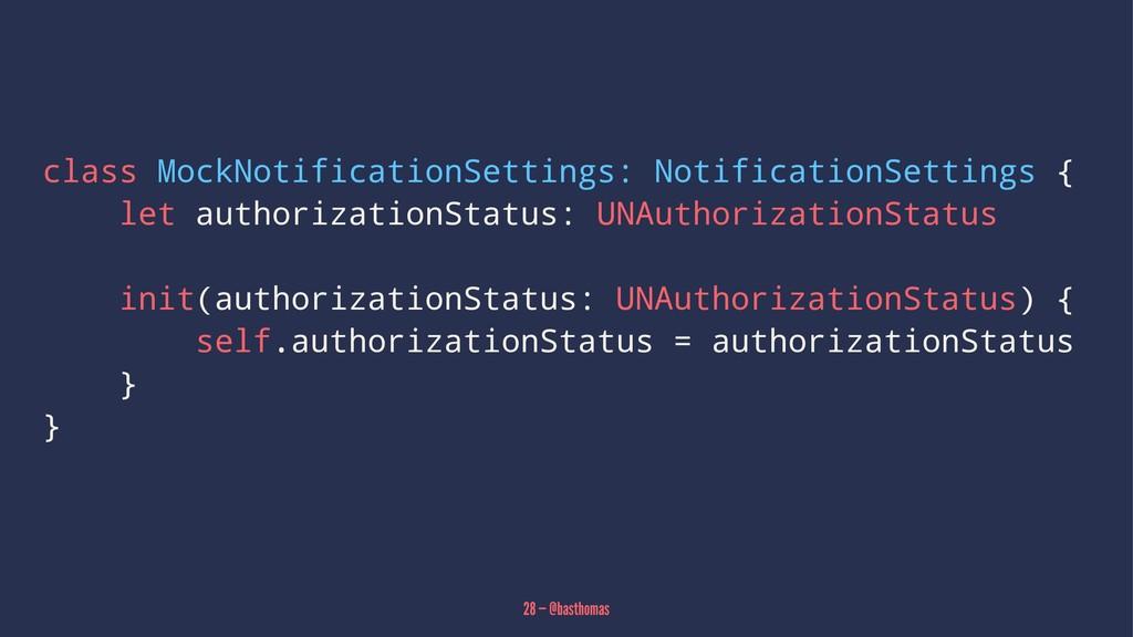 class MockNotificationSettings: NotificationSet...