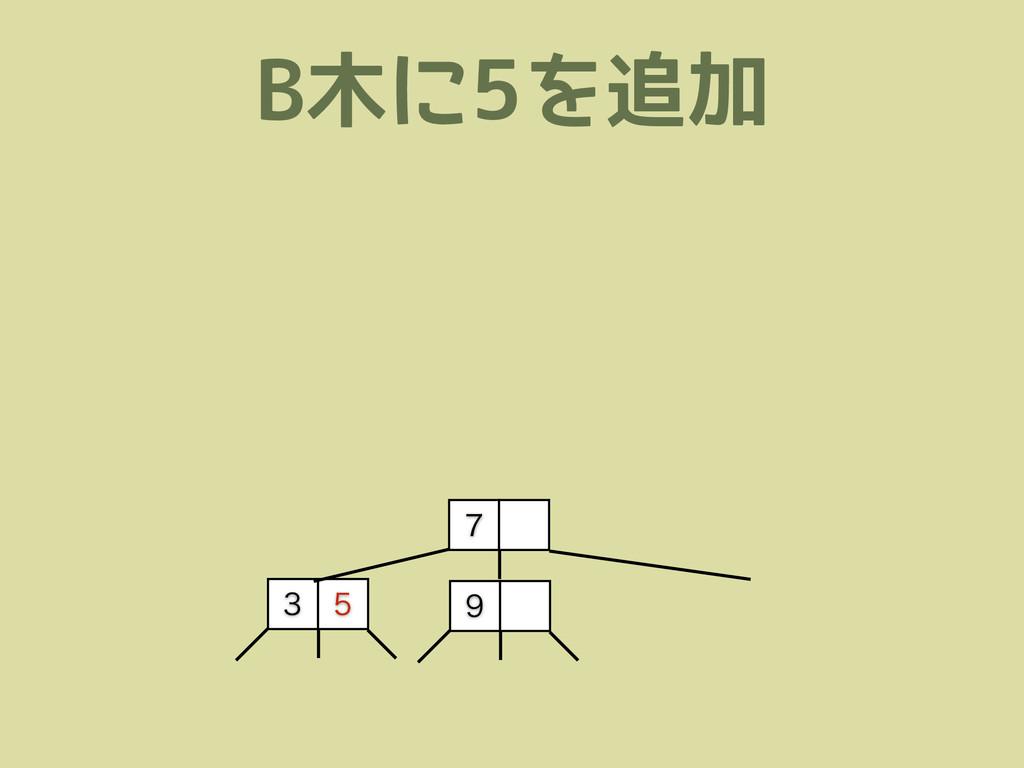 B木に5を追加