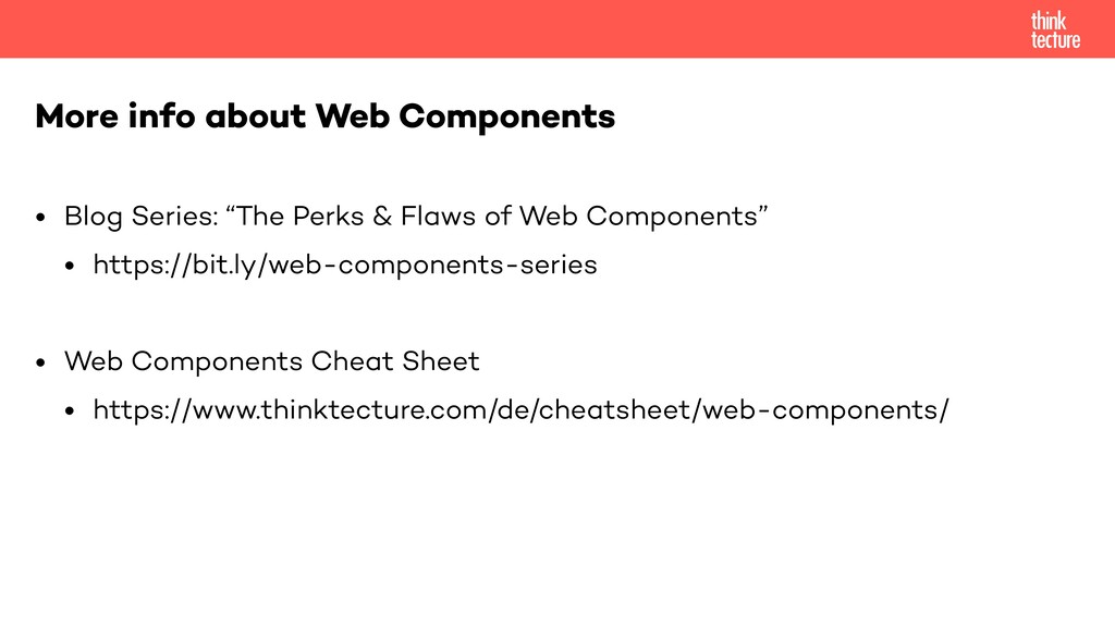"• Blog Series: ""The Perks & Flaws of Web Compon..."