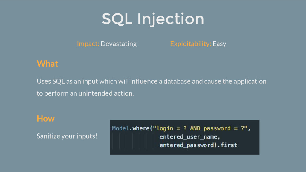 What Uses SQL as an input which will influence ...