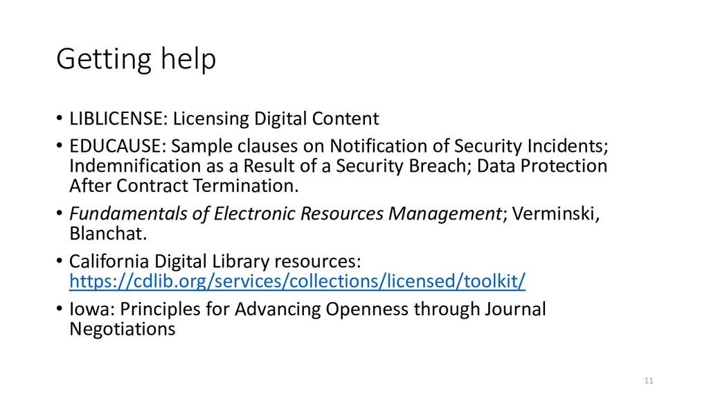 Getting help • LIBLICENSE: Licensing Digital Co...