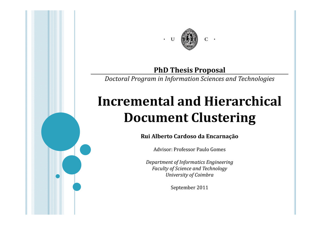 PhD Thesis Proposal Doctoral Program in Informa...
