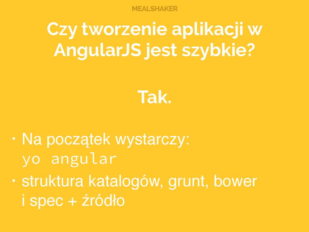 MEALSHAKER Czy tworzenie aplikacji w AngularJS ...