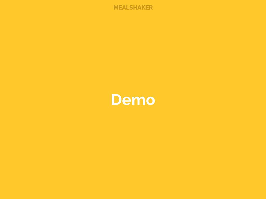 MEALSHAKER Demo