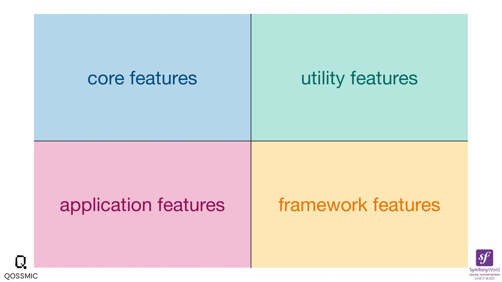 core features utility features application feat...
