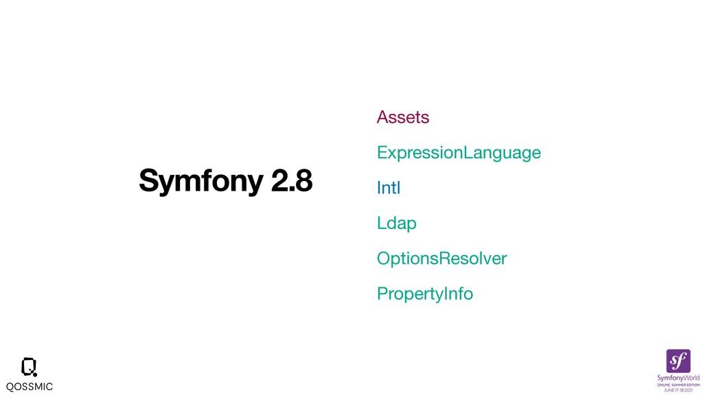 Symfony 2.8 Assets  ExpressionLanguage  Intl  L...