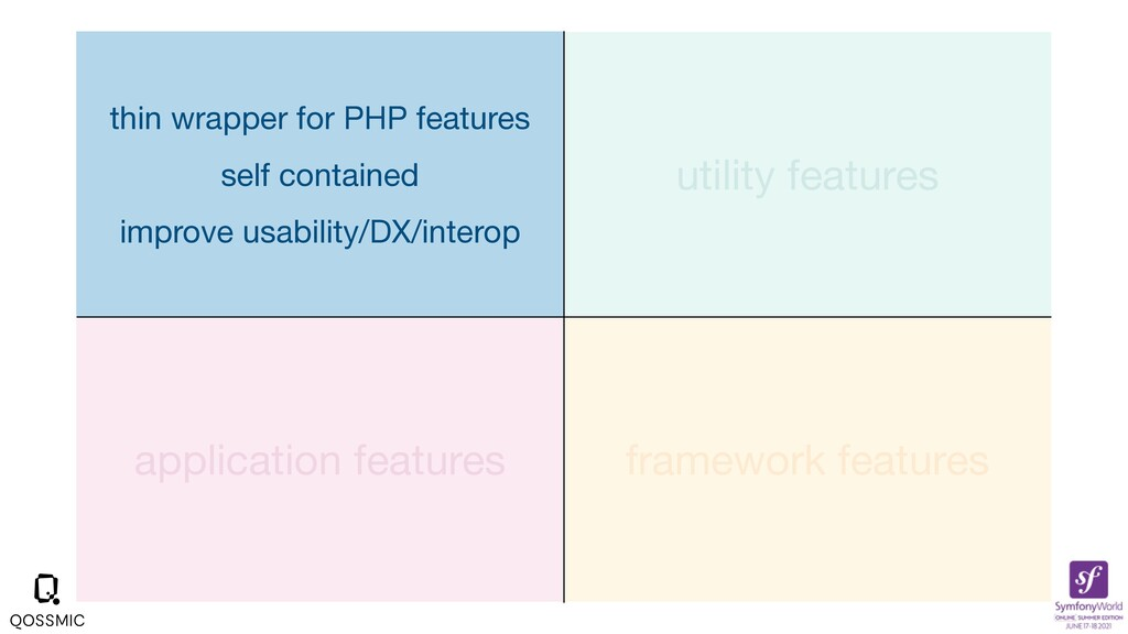 application features framework features utility...