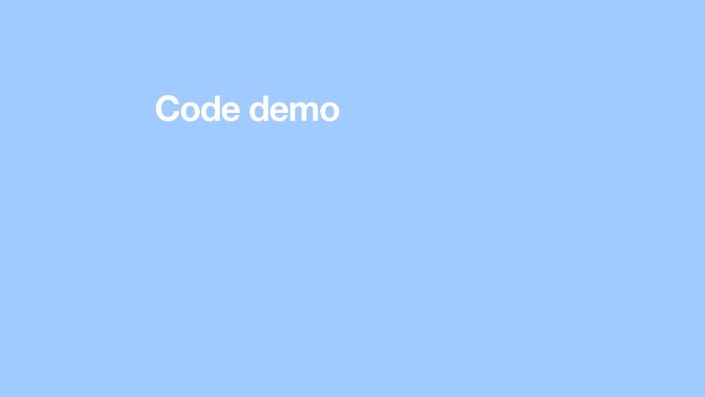 Code demo
