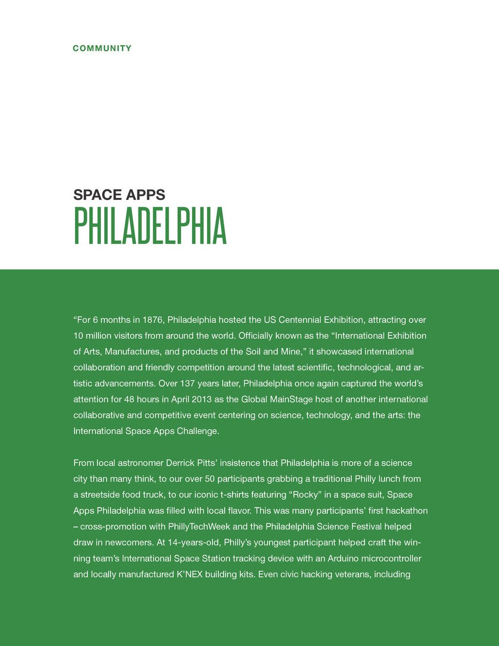 "spaceappschallenge.org COMMUNITY ""For 6 months ..."