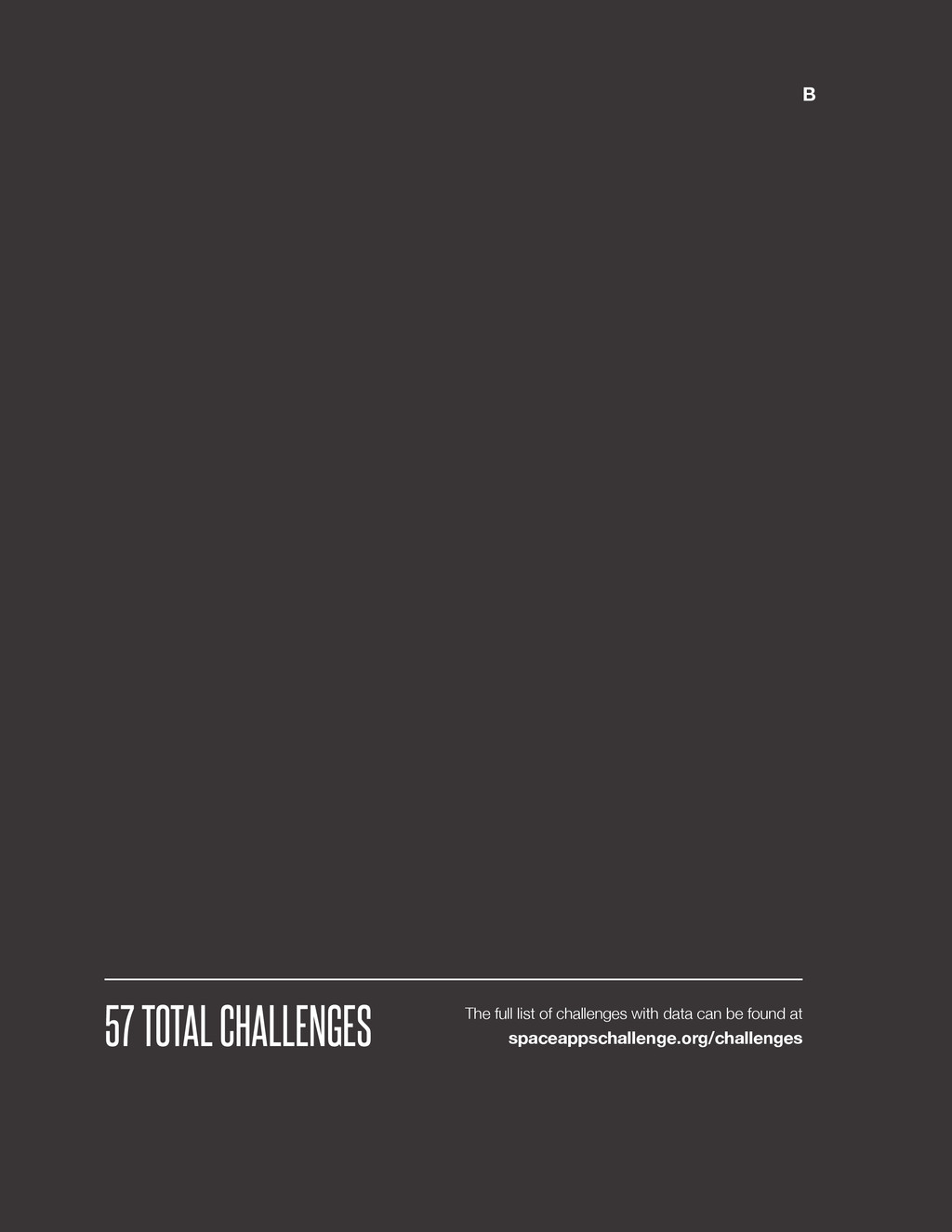@SpaceApps B 57 TOTAL CHALLENGES The full list ...
