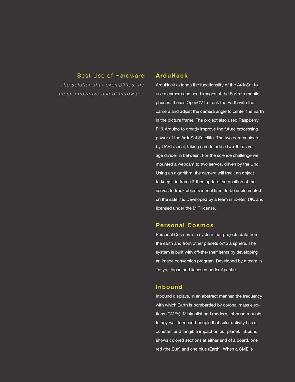 spaceappschallenge.org ArduHack ArduHack extend...