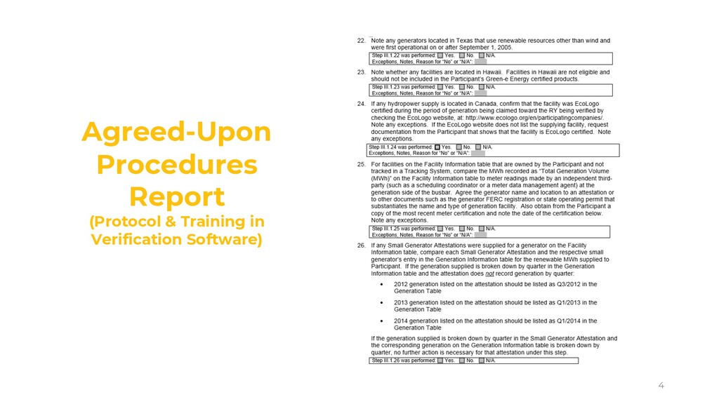 4 Agreed-Upon Procedures Report (Protocol & Tra...