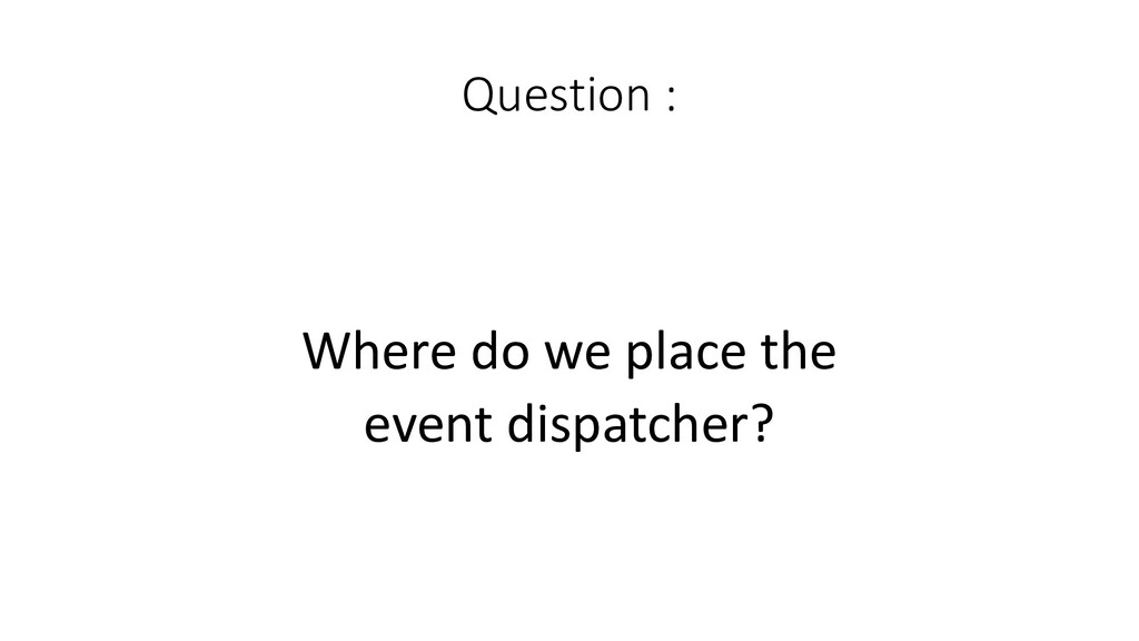 Question :  Where do we place ...