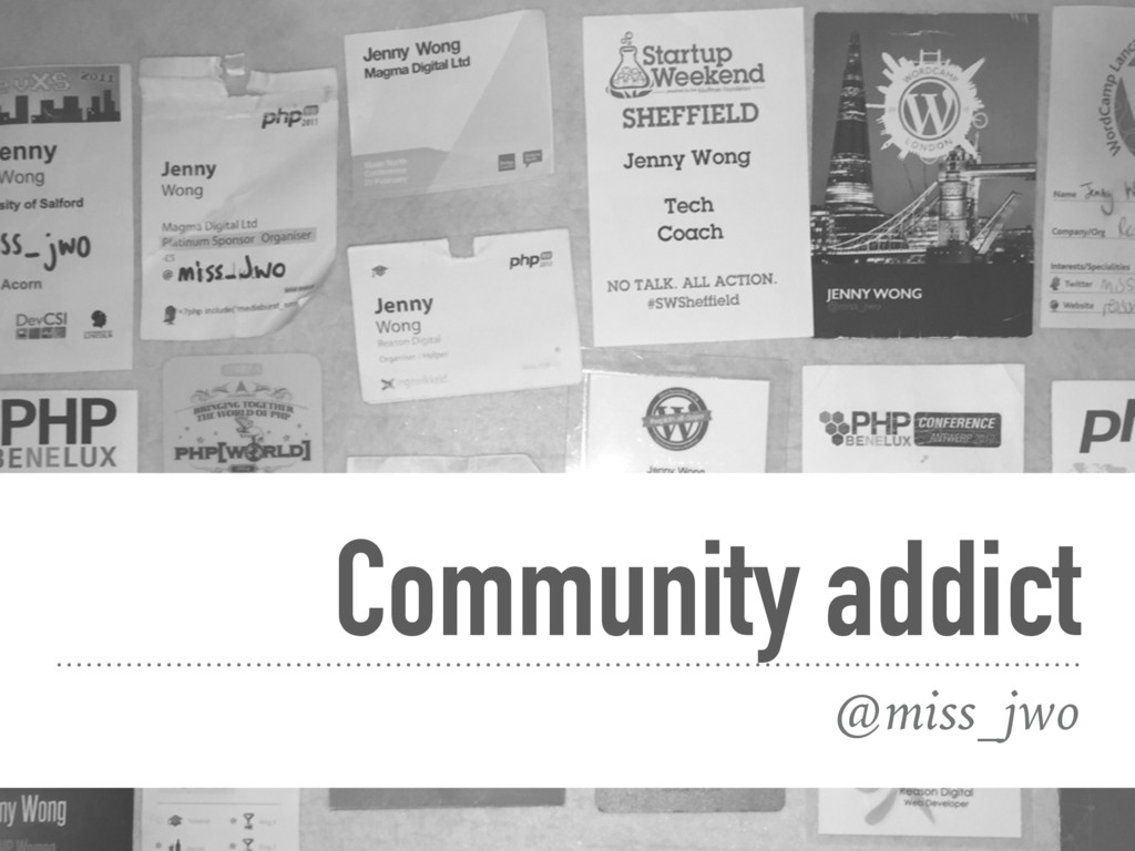@miss_jwo Community addict