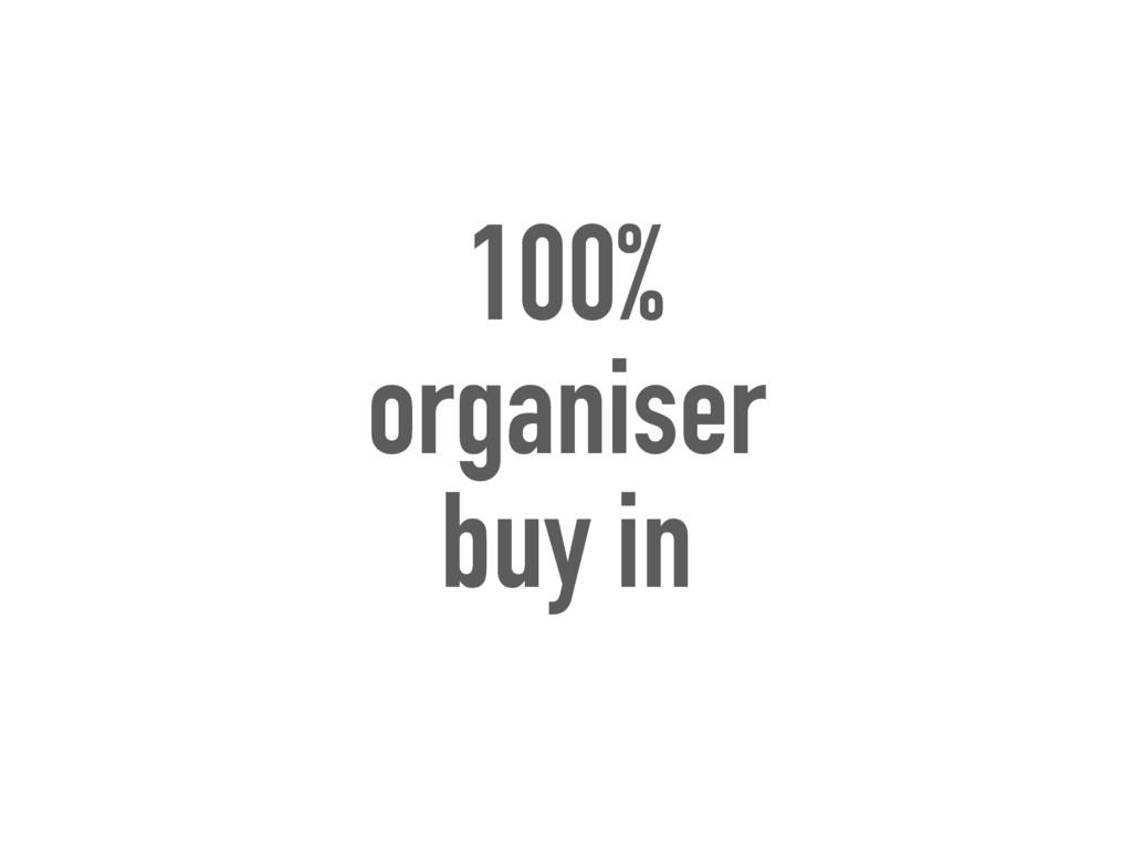 100% organiser buy in