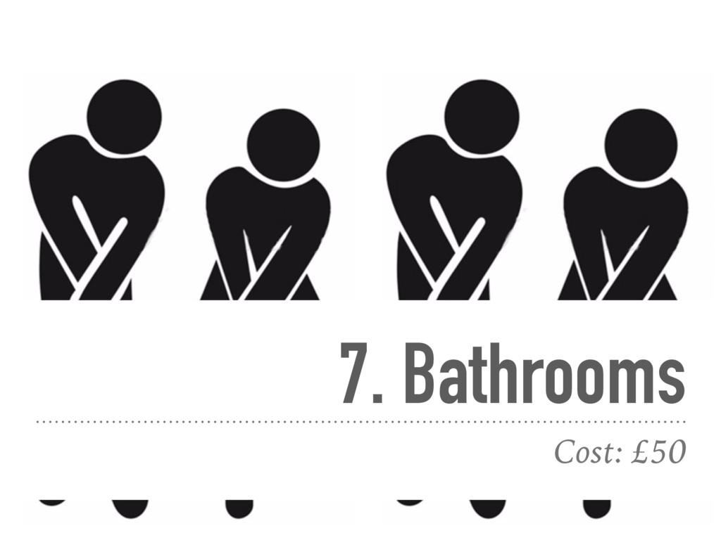 7. Bathrooms Cost: £50