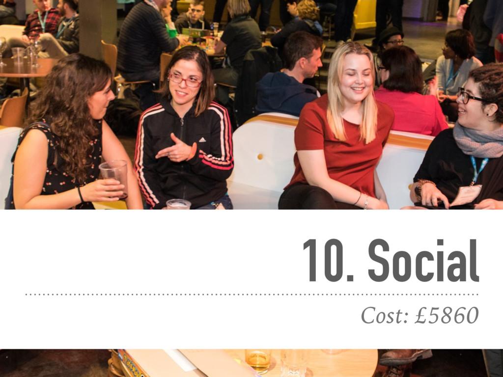10. Social Cost: £5860