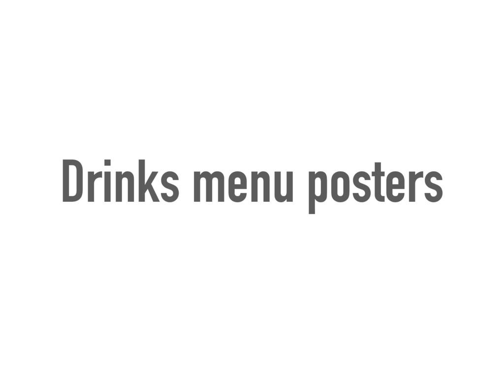 Drinks menu posters